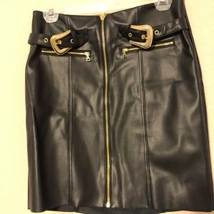 NWT Express Mini Skirt- Black Faux Leather
